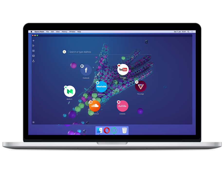 Opera Neon, un concept browser per Mac e Windows