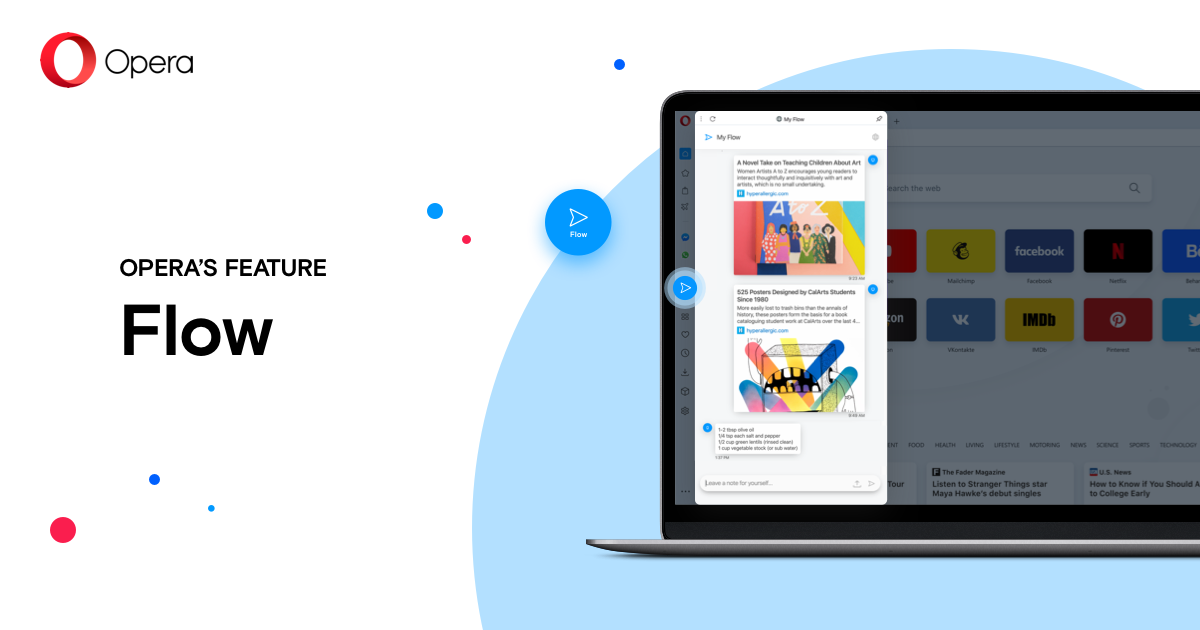 Flow: share things smoothly between your computer and phone | Opera