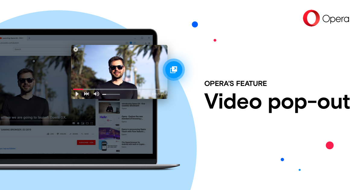 Video Pop Out Picture In Picture Video Opera