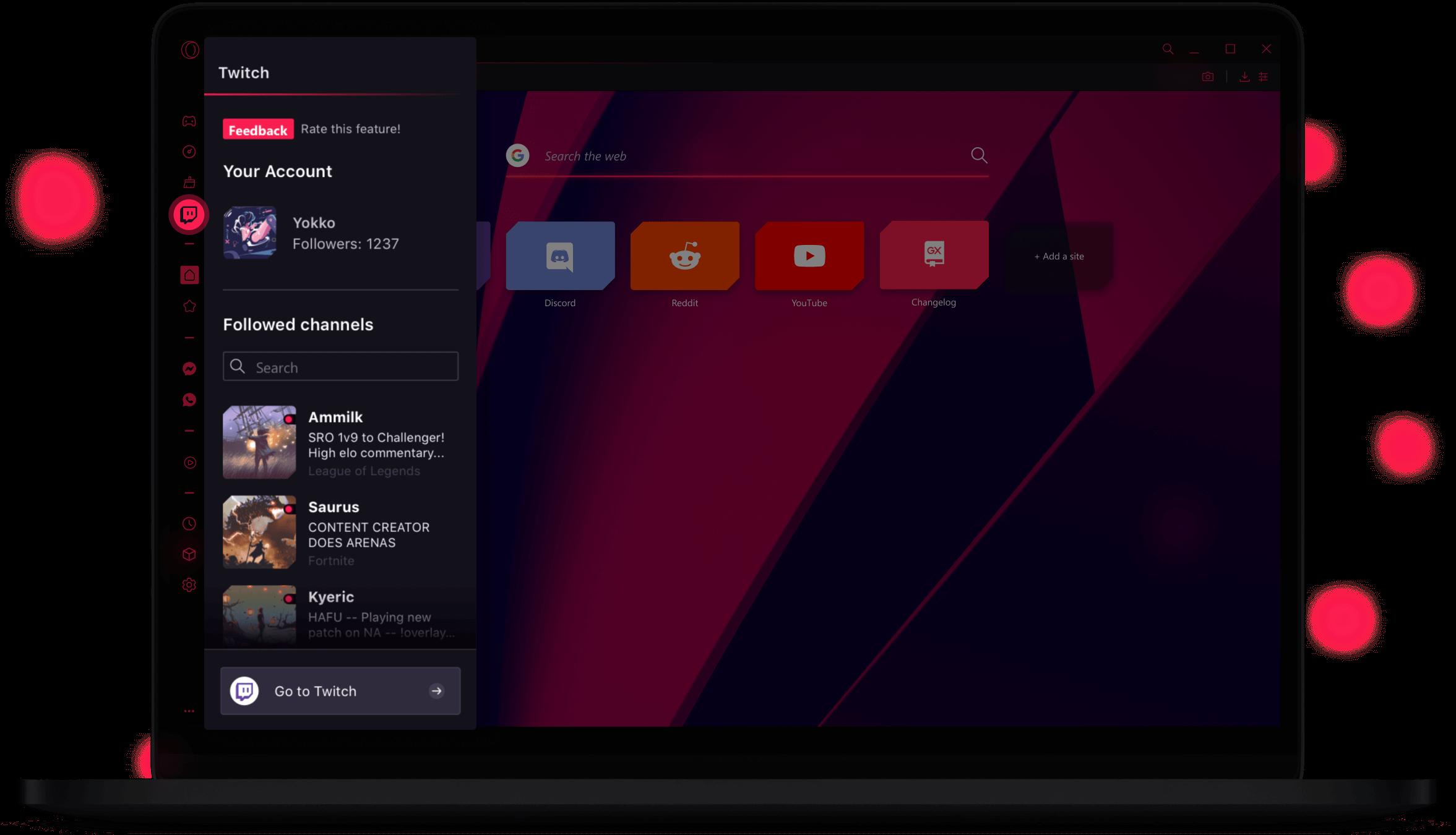 Opera GX untuk Browser Gaming