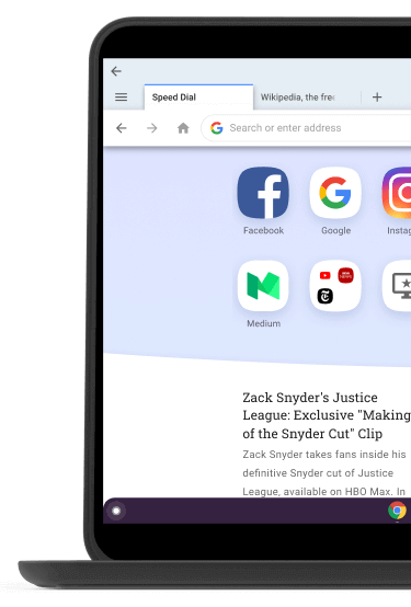 Opera Browser for Chromebook