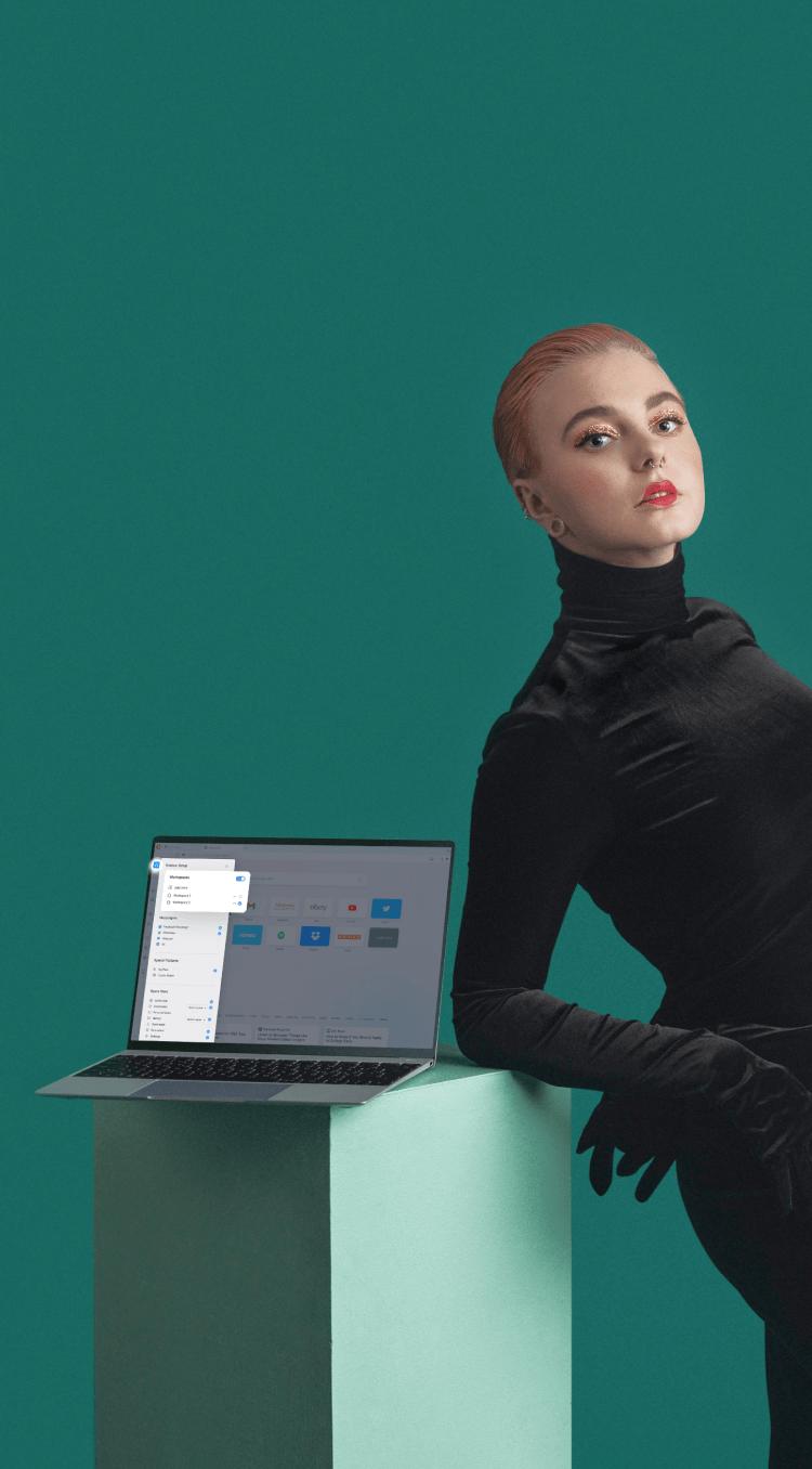 Organisieren Sie Ihren Browser mit separaten, anpassbaren Arbeitsbereichen.