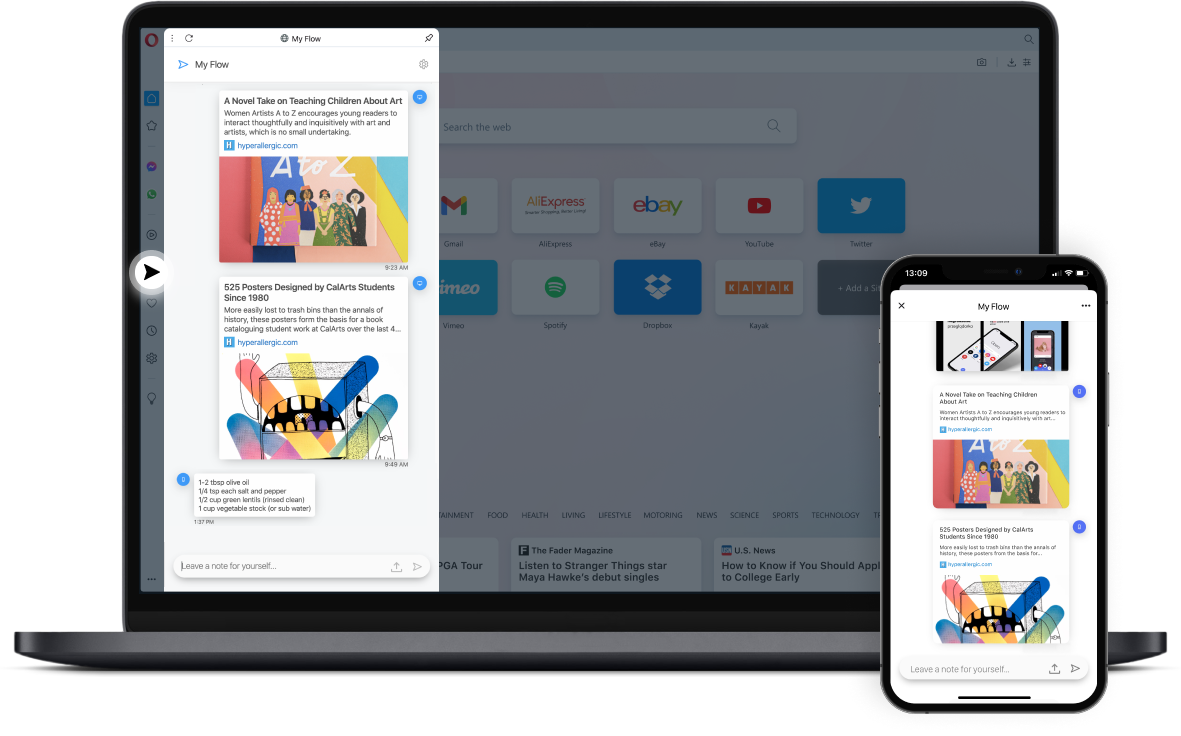 Connect your devices with Opera