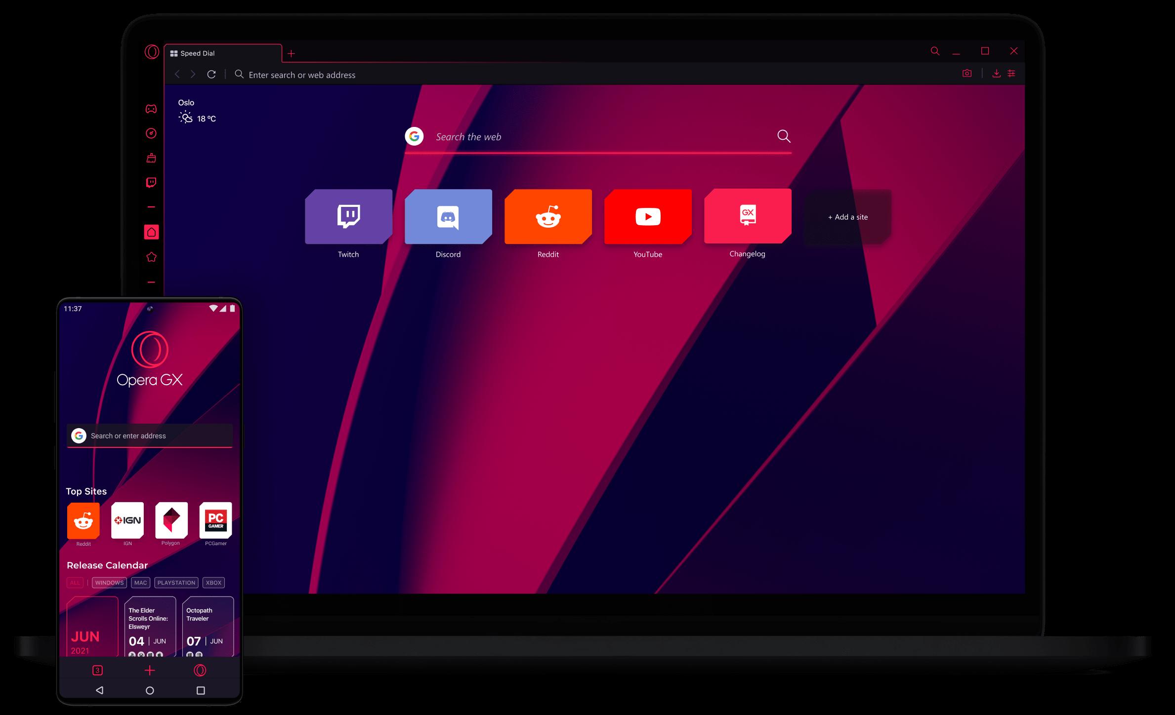 Custom Themes - Opera GX